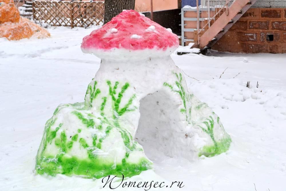 Поделки из снега на участке детского сада своими руками фото 31